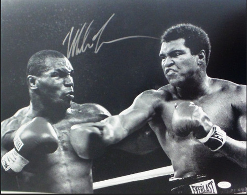 Mike Tyson vs Ali Signed Autographed 16x20 Photo JSA Authenticated