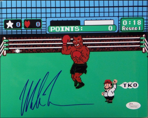 "Mike Tyson Signed ""Punchout"" 16x20 Photo - JSA Certified"