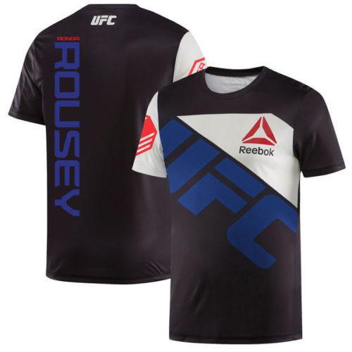 Ronda Rousey UFC Reebok Walkout MENS Jersey - Black/Blue