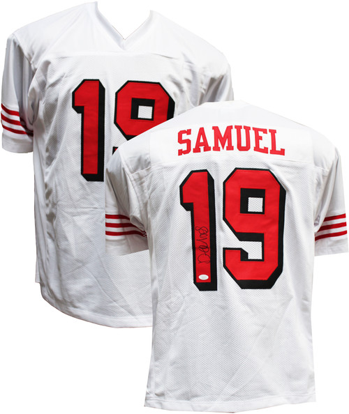 Authentic Deebo Samuel Autographed Custom White Color Rush Jersey JSA COA