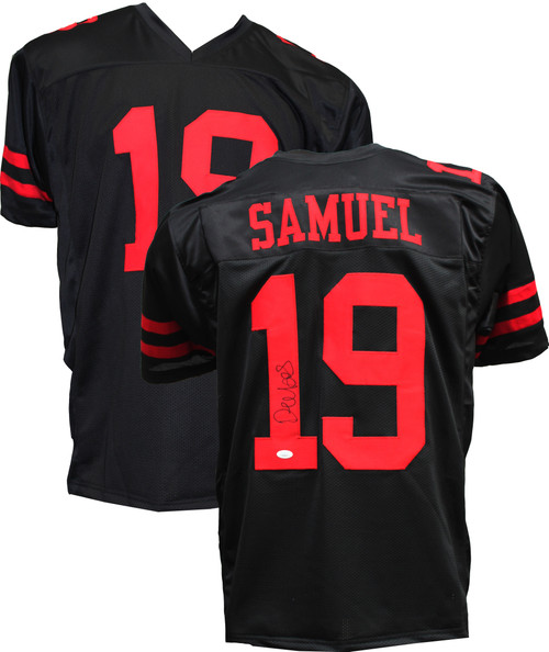 Authentic Deebo Samuel Autographed Black Jersey