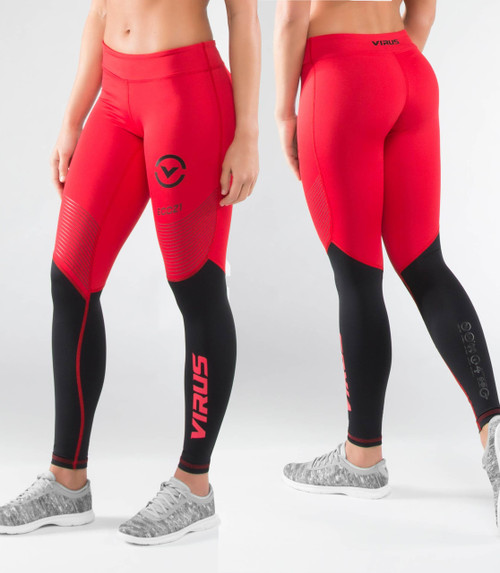 Virus Women's Stay Cool Eco21.5 Compression Pants RED/BLACK
