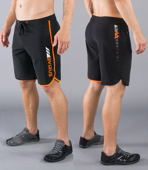 Virus Men's Airflex Training Shorts ST1 Black/Orange