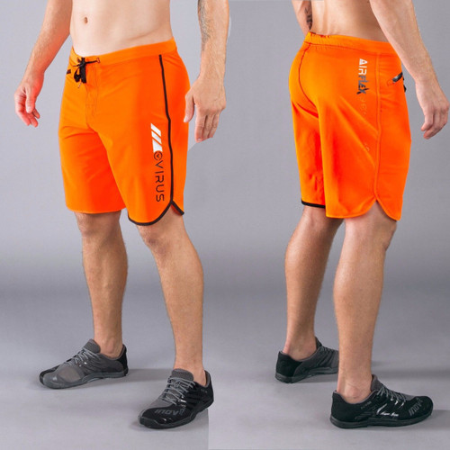 Virus Men's Airflex Training Shorts ST1 ORANGE/BLACK