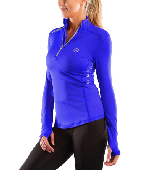 Virus Women's Stay Warm Long Sleeve Functional Fit Half Zip (ESiO1)