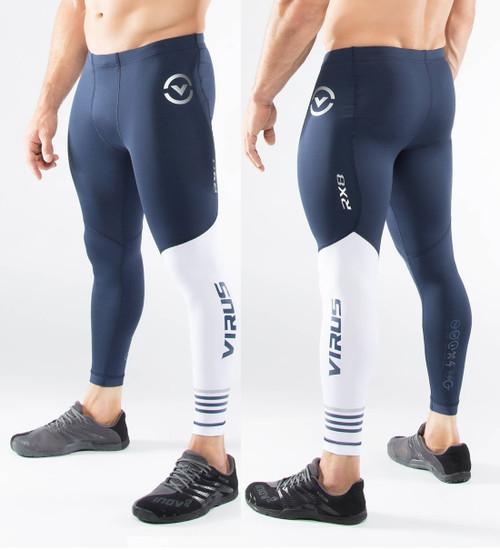 Virus Men's Compression Tech Pants RX8 (NAVY/WHITE)