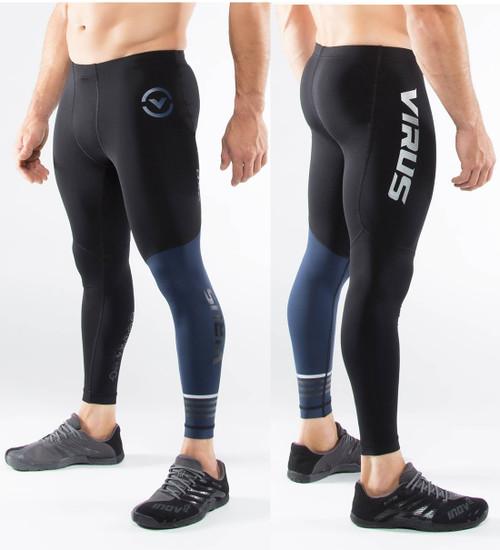 Virus Men's Compression Tech Pants RX8 (BLACK/NAVY)