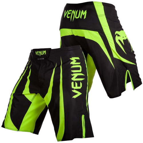 Venum Predator X Fight Shorts Black/Neon Yellow
