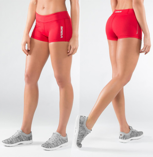 Virus Women's DATA Training Shorts RED (ECO22)
