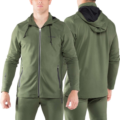 Virus Mens BioFleet Full Zip Training Jacket (AU17) OLIVE GREEN