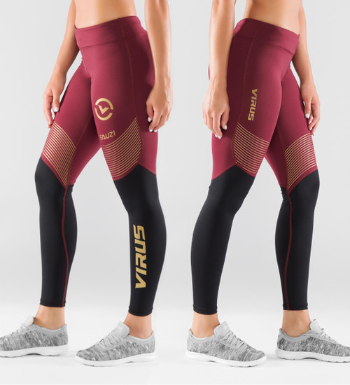 Virus Women's Bioceramic™ Compression V2 Pants (EAU21.5) Maroon/Black