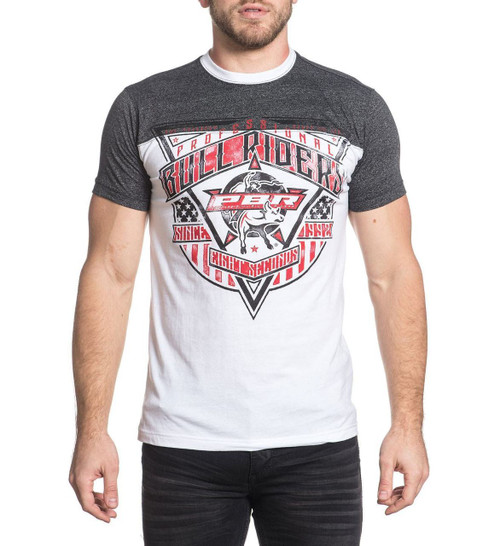 Affliction Rawhide Short Sleeve Football Tee