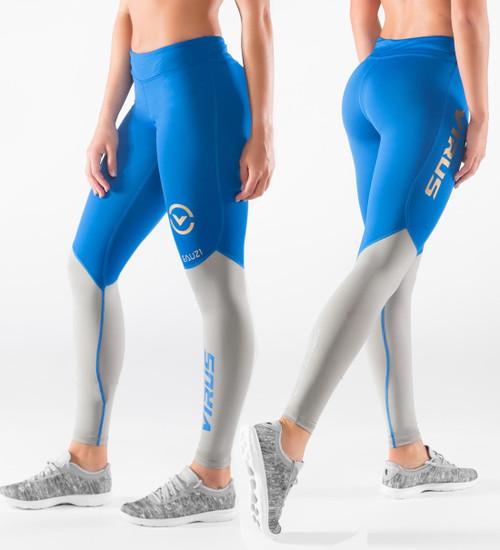 Virus Women's Bioceramic™ Compression V2 Pants (EAU21.5) Electric Blue/Grey