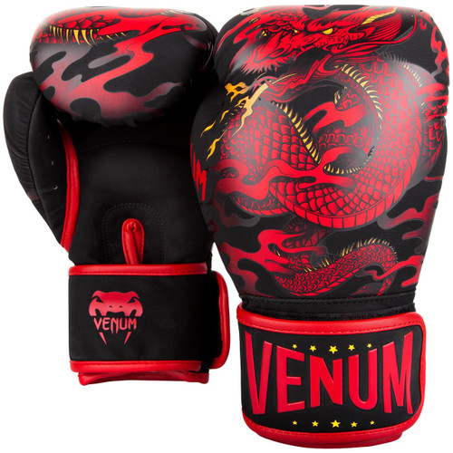 Venum Dragon's Flight Boxing Gloves BLACK/RED