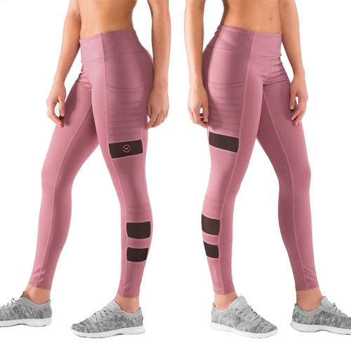Virus Women's Stay Cool ZEPU Mesh Compression Pant (ECO40) Rose brown
