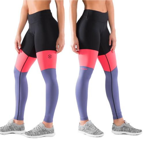 Virus Women's Stay Cool Tri-Color Compression Pant (ECO41) Black/Indigo