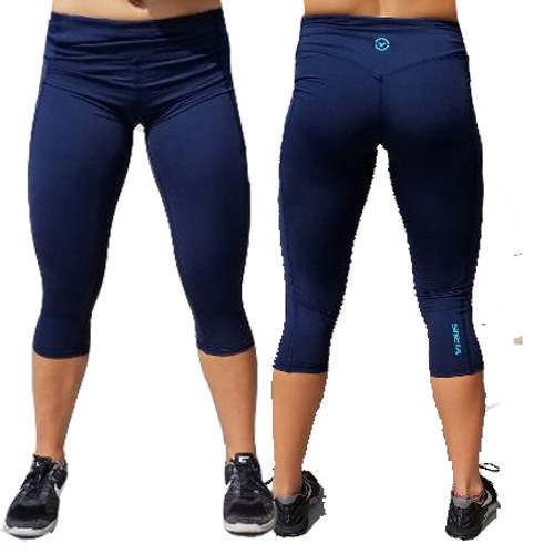 Virus ECo60 Omega Tech Crop Compression Pants - NAVY