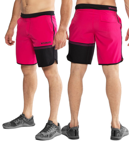 Virus ST5 Velocity Training Shorts RASPBERRY/BLACK