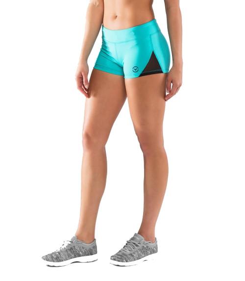 Virus ECO22.5 Women's DATA Mesh Training Shorts Teal Green