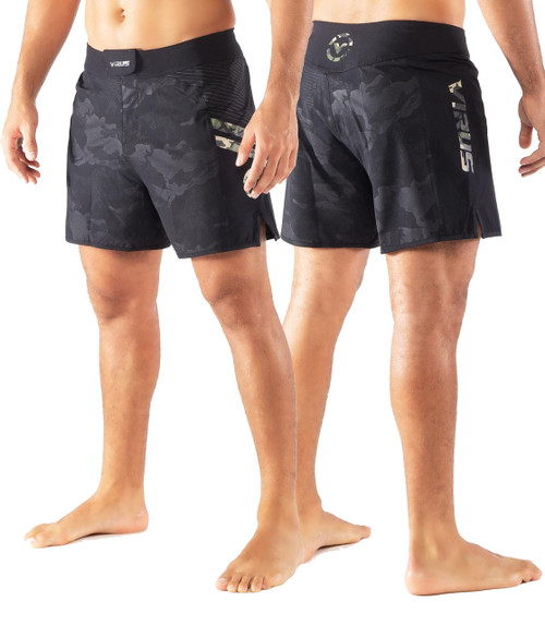 Virus ST2 DISASTER II COMBAT SHORTS Black/Camo