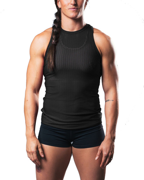 Vull Sport FLEX MESH TRAINING TANK - BLACK