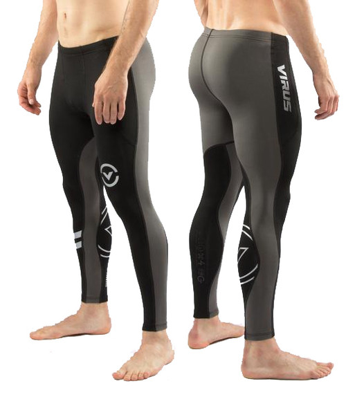 Virus SIO16  COFFEECHAR™ THERMAL V3 COMPRESSION PANTS BLACK/GREY