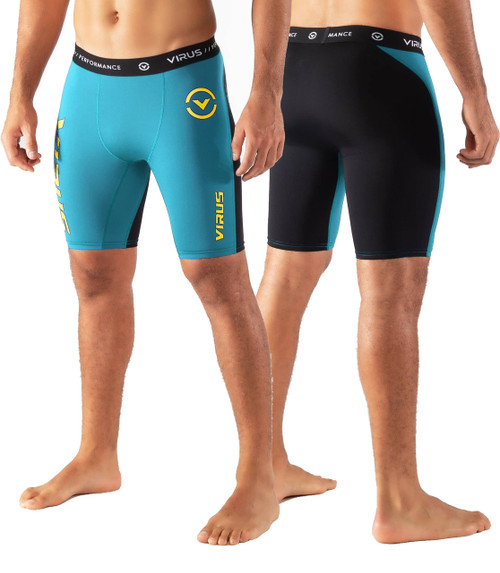 Virus CO14.5 STAY COOL COMPRESSION SHORT - Bay Blue/Black