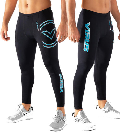 Virus RX7-V3 STAY COOL V3 TECH PANTS - Black/Bay Blue