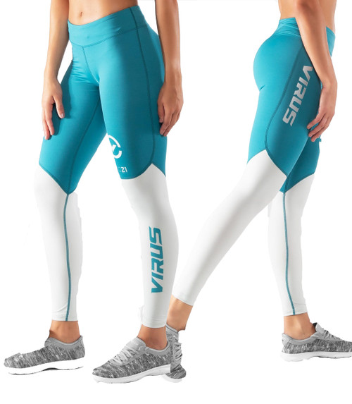 Virus ECO21.5 Womens STAY COOL V2 COMPRESSION PANT Bay Blue/Aluminum