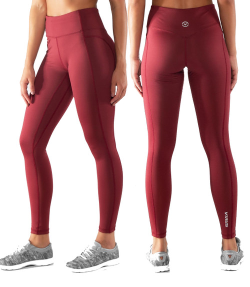 Virus Womens ECO44 OMEGA WOMEN'S STAY COOL FULL LENGTH PANT - Dark Berry