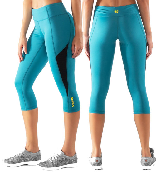 Virus ECO57 ECHO STAY COOL COMPRESSION CROP PANT - Bay Blue