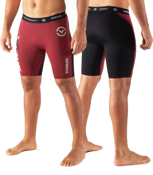Virus Mens CO14.5 STAY COOL COMPRESSION SHORT - Dark Berry