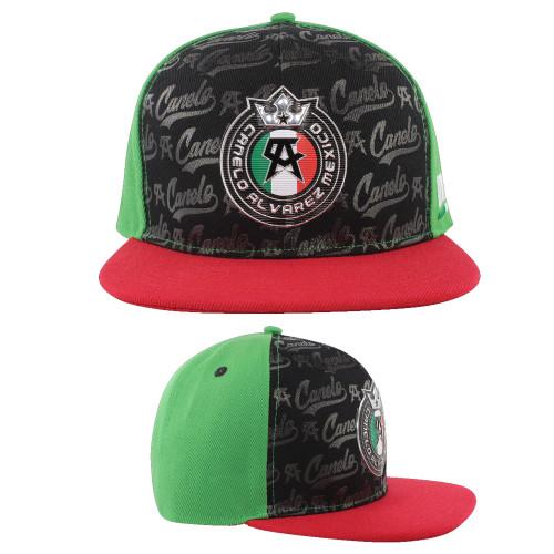 Canelo Alvarez Pattern Black Snapback Hat