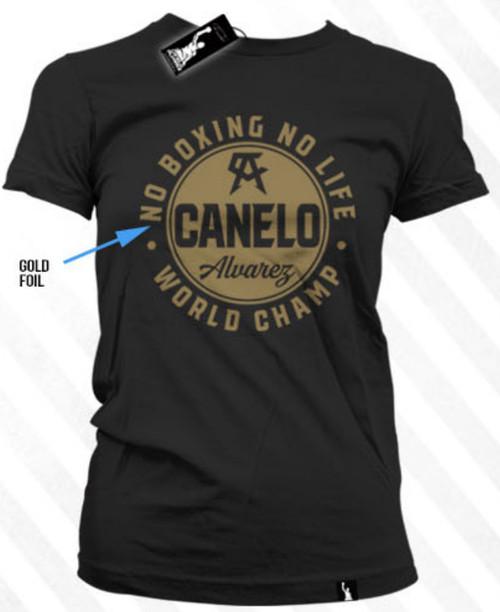 Canelo Alvarez Sphear Gold Foil Shirt