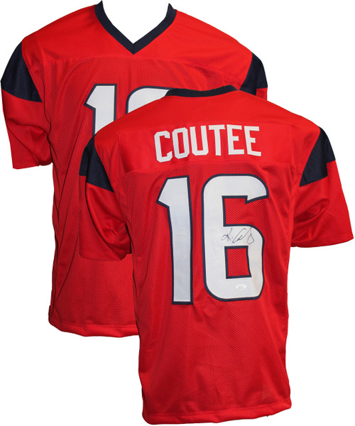 Keke Coutee Autographed Red Jersey JSA Certified