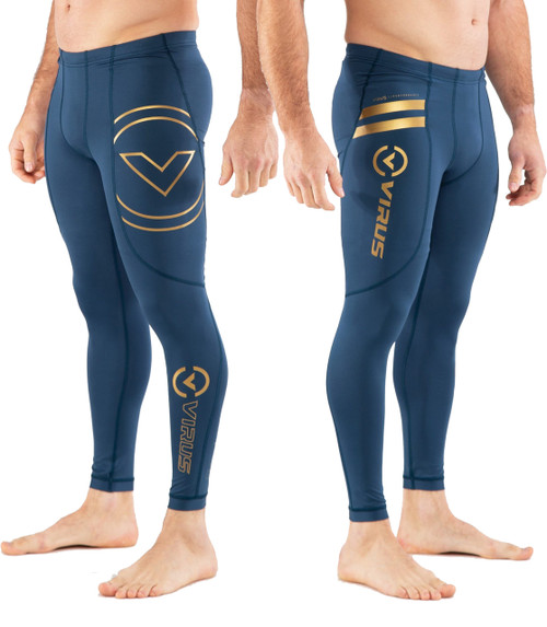 Virus AU9 BIOCERAMIC COMPRESSION V2 TECH PANTS - Space Blue