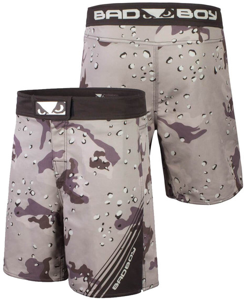 BAD BOY SOLDIER TRAINING FIGHT SHORTS - DESERT CAMO