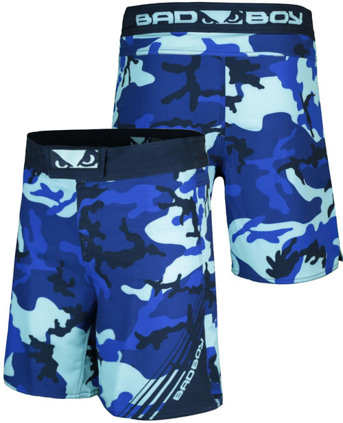 BAD BOY SOLDIER TRAINING FIGHT SHORTS - BLUE CAMO