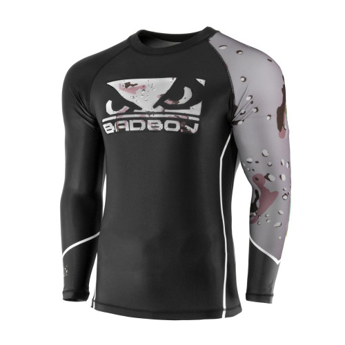 BAD BOY SOLDIER RASH GUARD - BLACK / DESERT CAMO