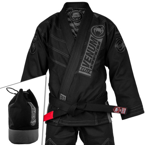 VENUM ELITE LIGHT 2.0 BJJ GI - (BAG INCLUDED) - BLACK/BLACK