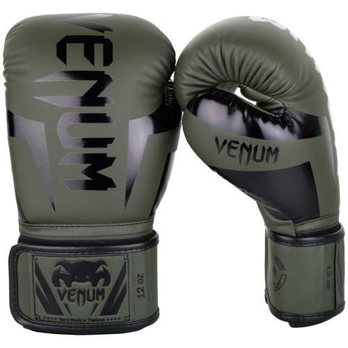 Venum Elite Boxing Gloves KHAKI/BLACK