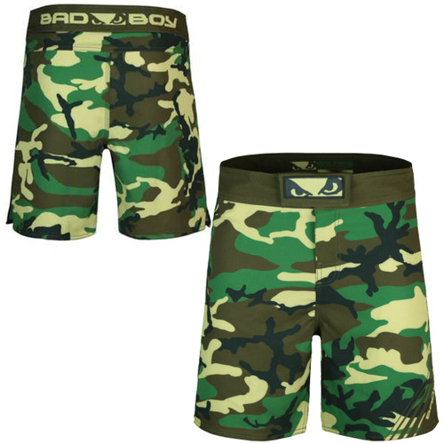 BAD BOY SOLDIER TRAINING FIGHT SHORTS - GREEN CAMO