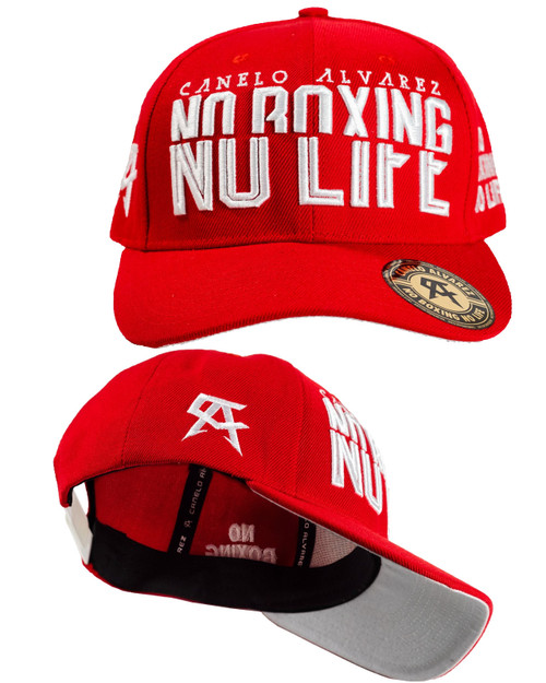 Canelo Alvarez Red Split Snapback Hat