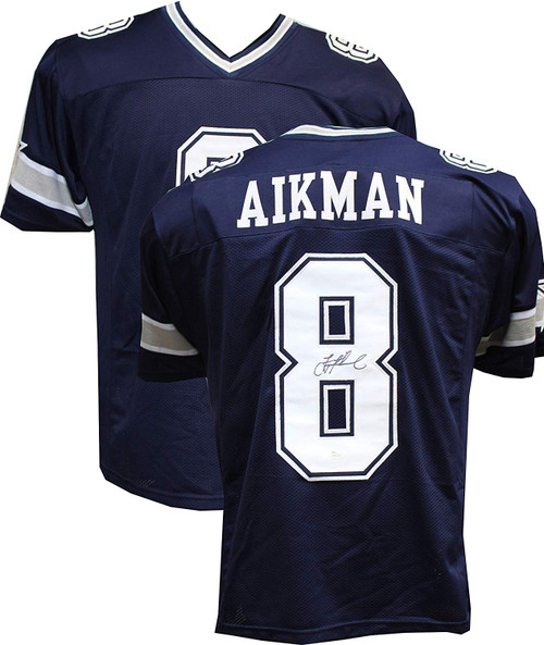 Authentic Troy Aikman Autographed Signed Custom Blue Jersey (JSA Hologram) Dallas Cowboys