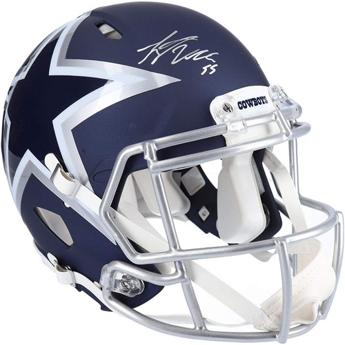 Authentic Leighton Vander Esch Autographed Dallas Cowboys AMP Full-Size Speed Helmet (Beckett Hologram)