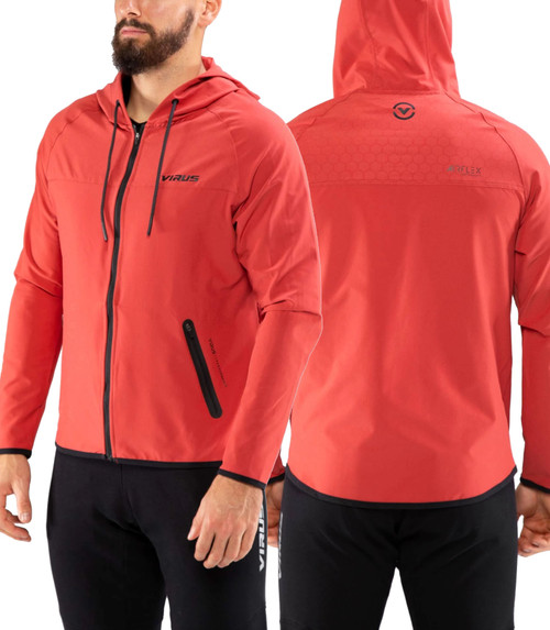VIRUS CO22 AIRFLEX V2 ZIP JACKET - CRANBERRY RED