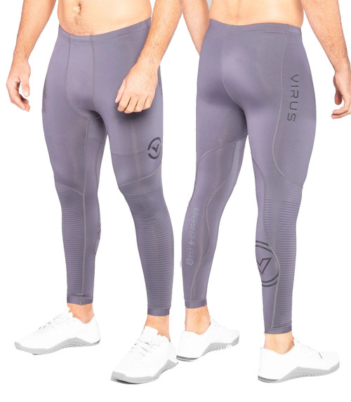 VIRUS AU9X BIOCERAMIC™ COMPRESSION TECH PANTS - GUN METAL/BLACK