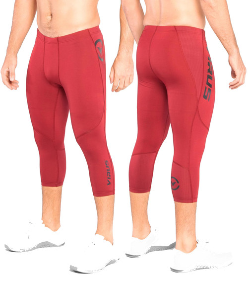 VIRUS AU31 ATOMIC 3/4 LENGTH BIOCERAMIC™ COMPRESSION TECH PANT - OX BLOOD