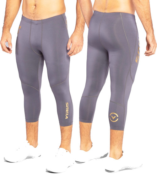 VIRUS AU31 ATOMIC 3/4 LENGTH BIOCERAMIC™ COMPRESSION TECH PANT - GUN METAL