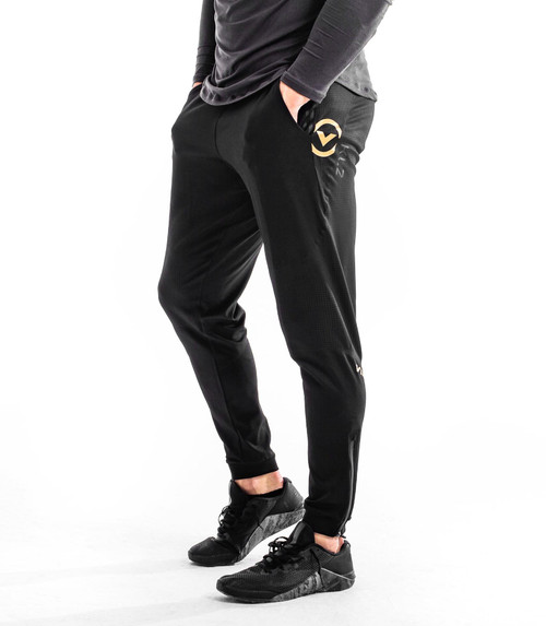 VIRUS Au91 KL2 Active Unisex Recovery Pant - Black/Gold